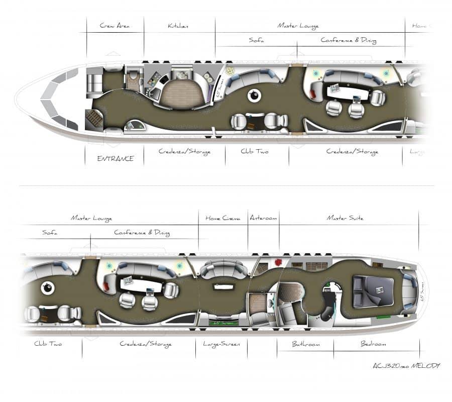 Boeing 787 Private Jet Interior Design – Jerusalem House