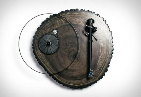 A wooden turntable for the vinyl enthusiast